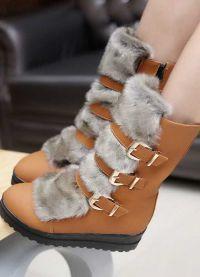 кафяви дамски обувки 9