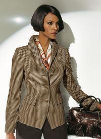brązowa kurtka damska 1