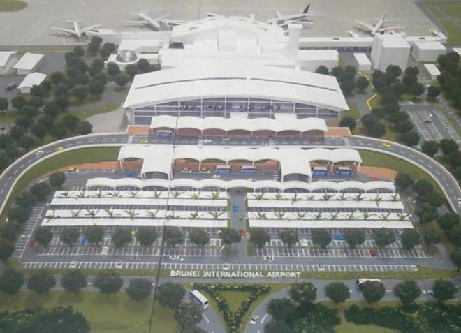 Вид на аэропорт Брунея
