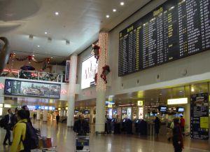 Табло международного аэропорта