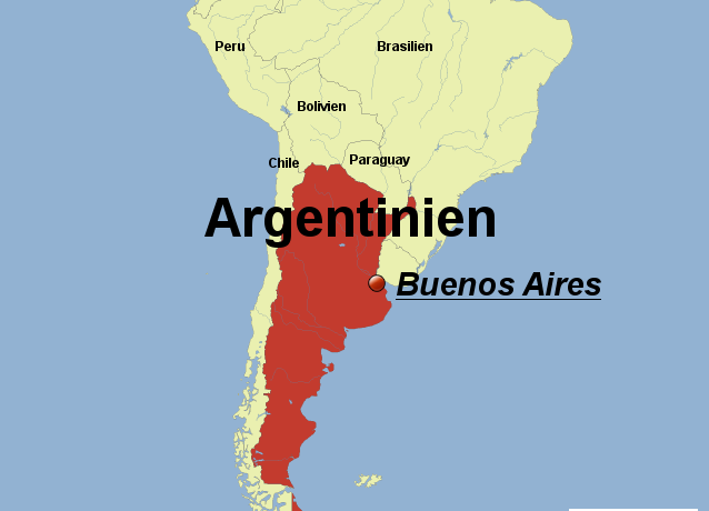 Буэнос-Айрес на карте