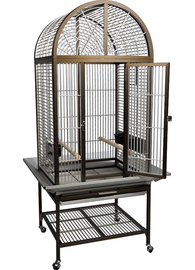 ожереловый попугай клетка