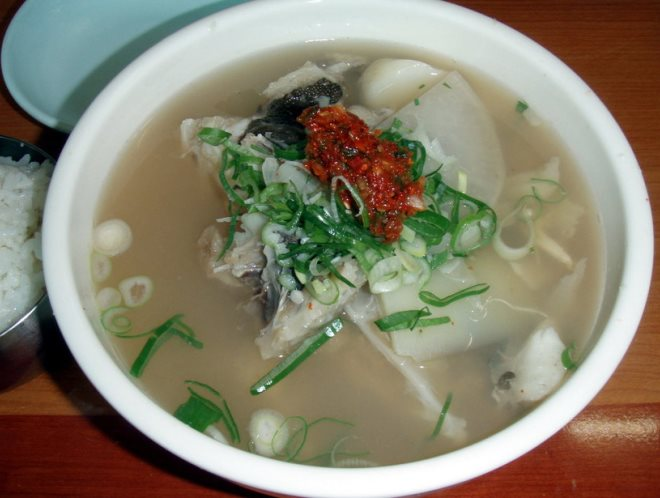 Суп из рыбы фугу
