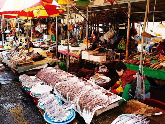 Рыбный рынок Пусана
