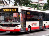 Автобус транспортной компании SMRT