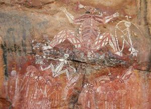 Рентгеновская живопись в одной из пещер