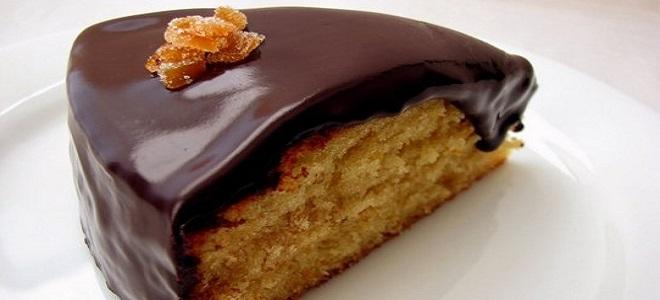 Чоколадна глазура за чоколадну торту