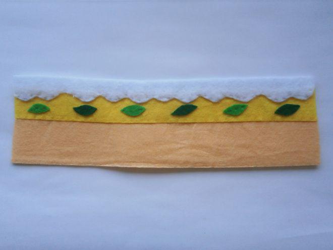 Торта, изработена от филцов страна