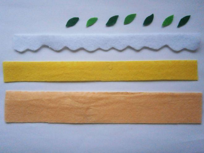 Ciasto z filcowych części