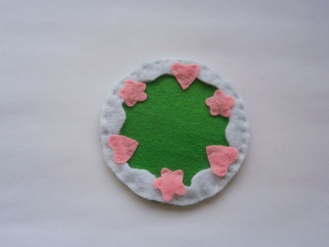 Ciasto z filcu dekoracyjnego