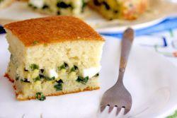 zelený cibulový koláč recept