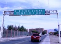 Въезд в город Калама