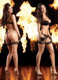 Марианна и Камила Давалос фотосессия эротического нижнего белья