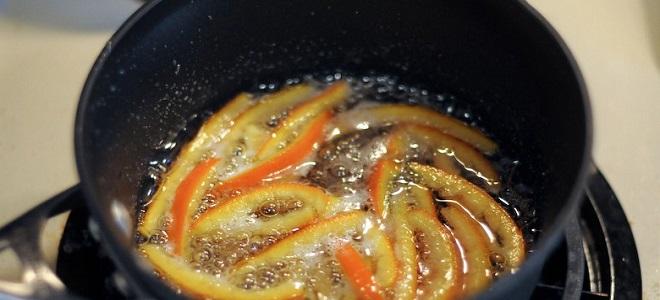 Sirup za kandirano voće od narančine peels