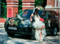 dekoracja samochodu na wesele6