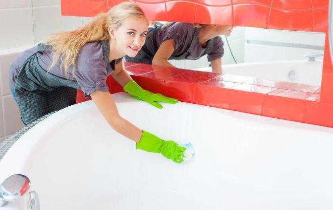 чем можно чистить акриловую ванну