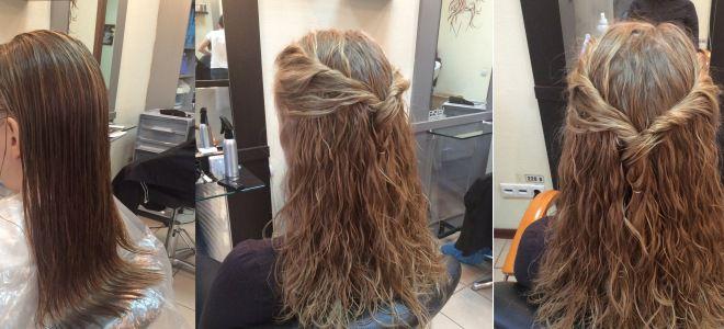 Как выглядит карвинг волос три
