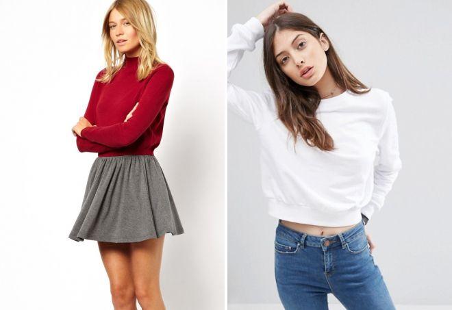 кашемировый свитер с юбкой