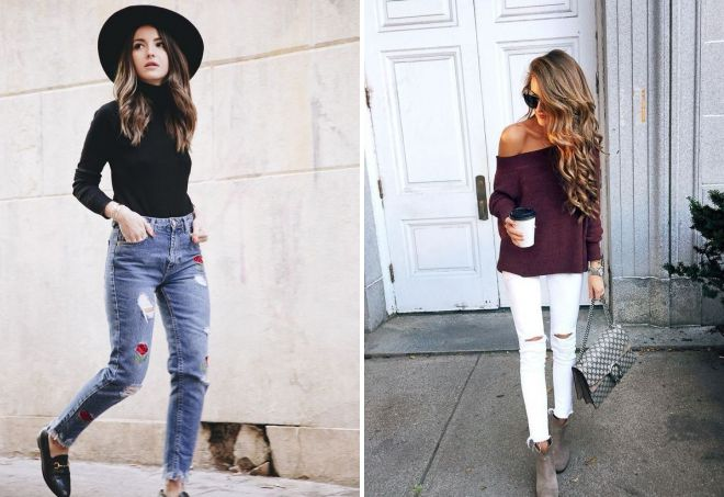 джинсы и кашемировый свитер