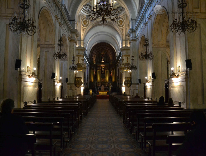 Интерьер Кафедрального собора Монтевидео
