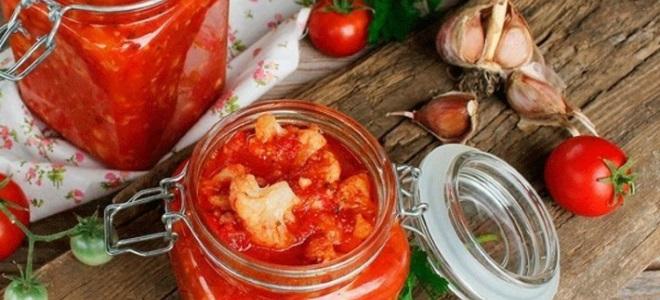 Kalafior w pomidorze na zimę