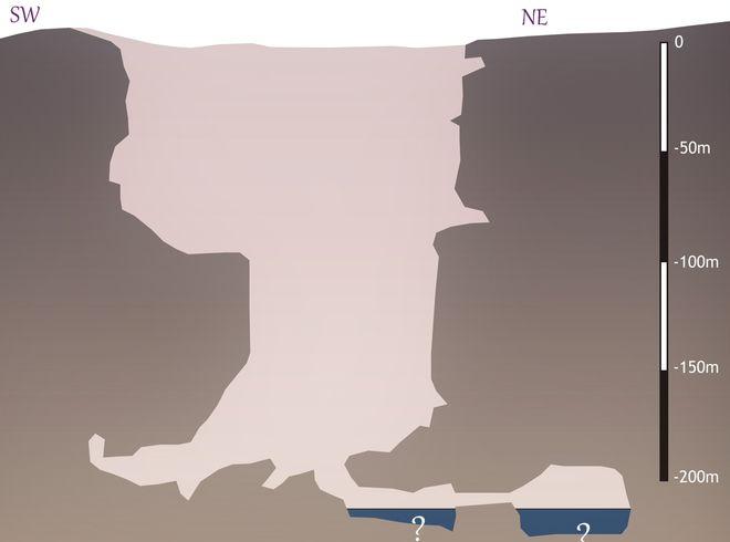 Схема пещер вади Тави в Омане