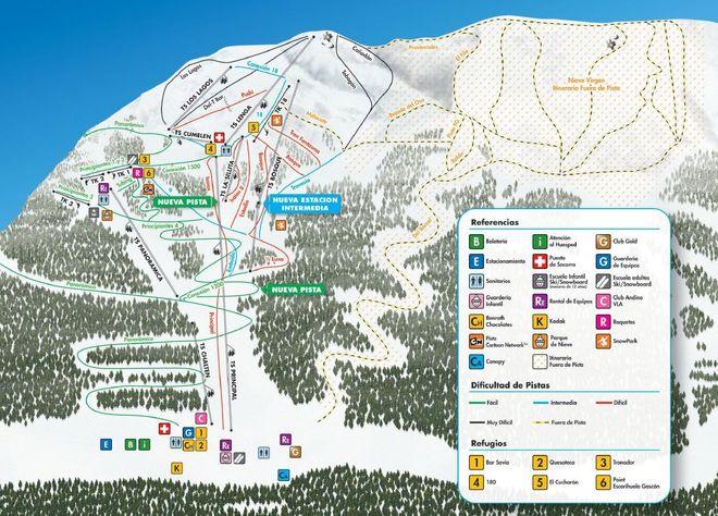 Карта горнолыжного курорта Серро-Байо