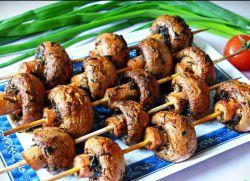 marynowane pieczarki z grilla