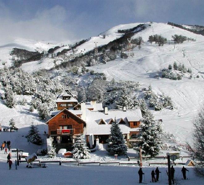 Популярный горнолыжный курорт