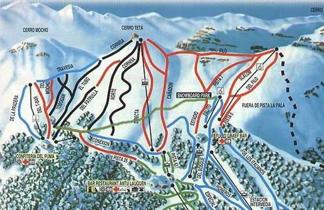Схема трасс горнолыжного курорта
