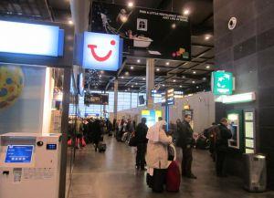 Зал регистрации в аэропорту Шарлеруа