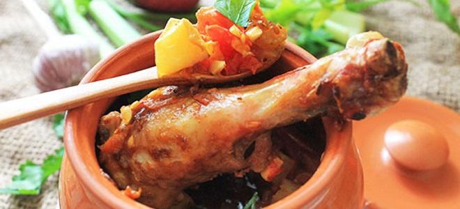 Пилешки крака в саксия с картофи