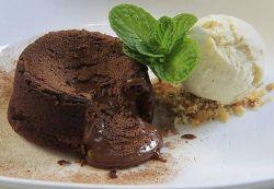 babeczki czekoladowe z płynnym nadzieniem