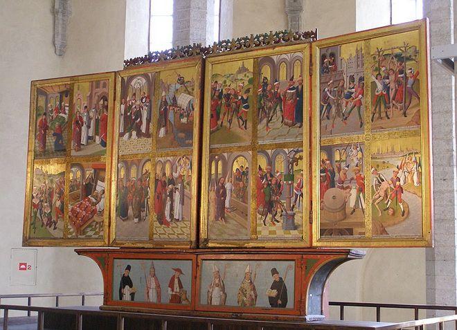 Алтарь в церкви Нигулисте