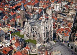 Вид на собор и город