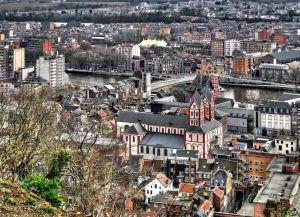 Collégiale Saint-Barthélemy de Liège с высоты птичьего полета