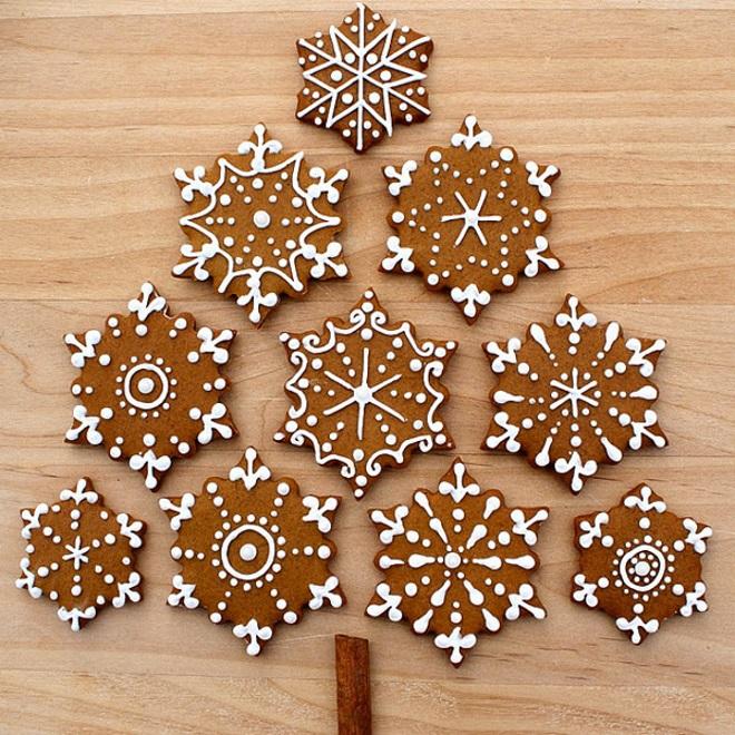 Klasični ingverji z glazuro - snežinke