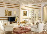 klasický bílý obývací pokoj 2