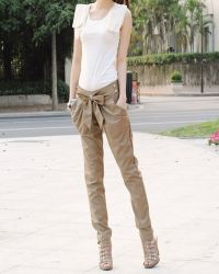 Klasična mršava ženska hlače 1