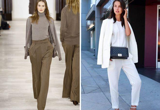 женские классические брюки 2017