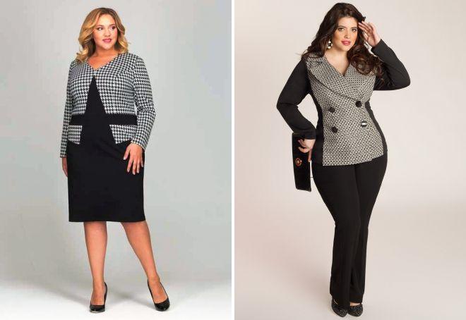 классический стиль одежды для полных женщин