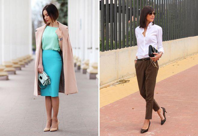 классический образ в одежде женщины