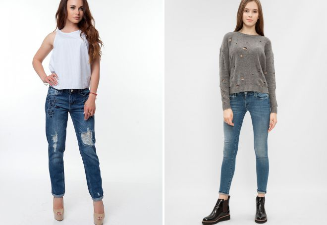 классическая обувь с джинсами