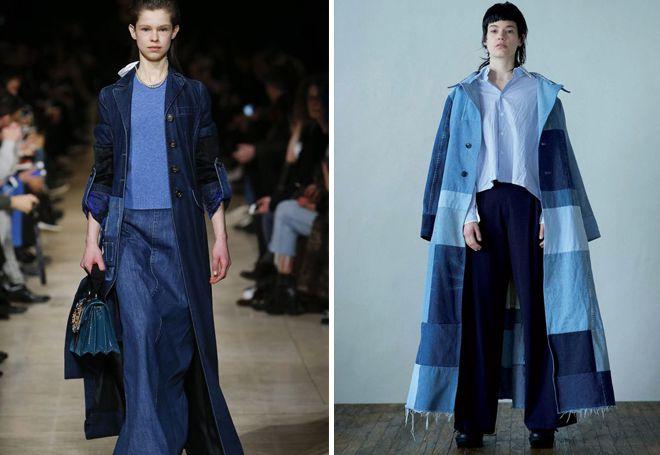 Модные джинсовые плащи 2017