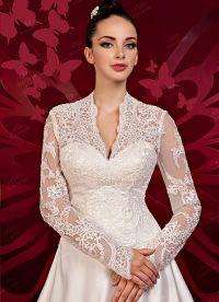 Zaprta poročna obleka