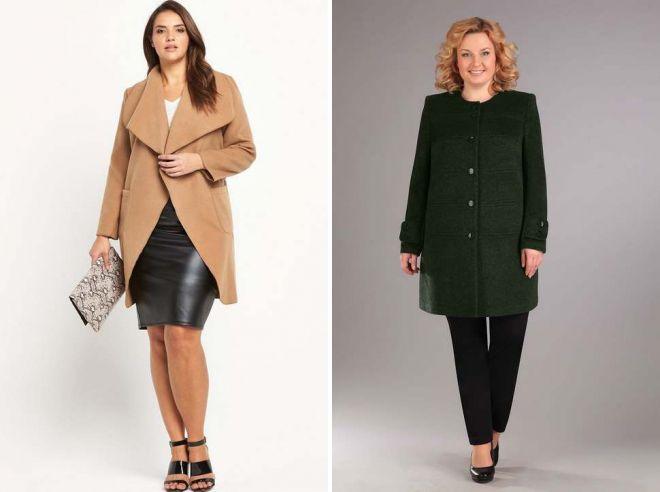 какое пальто подойдет полной девушке