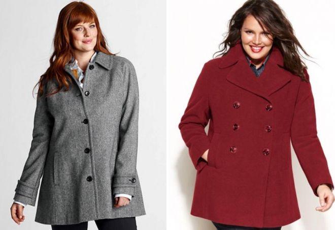 короткие пальто для полных женщин