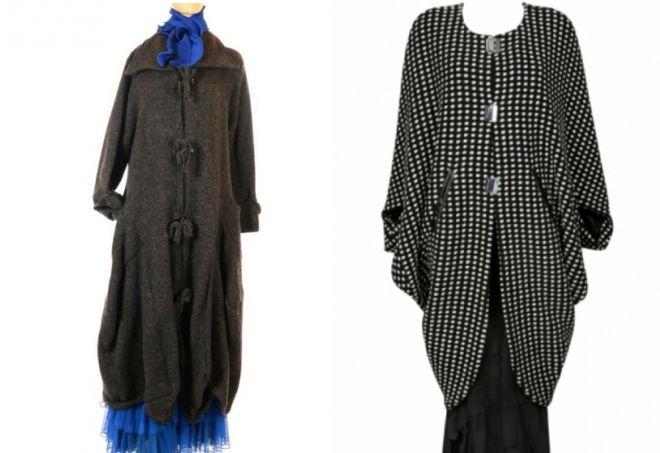 женское пальто для полных