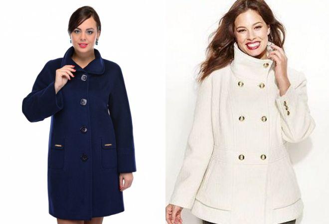 красивые пальто для полных женщин