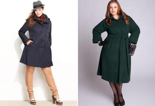 пальто для полных девушек